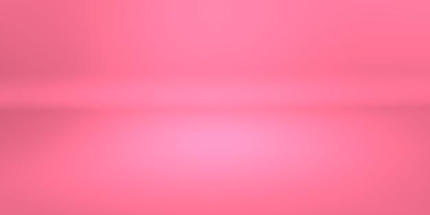Sala de estudio de espacio vacío de fondo degradado de coral rosa abstracto para sitio web de anuncios de productos de visualización. representación de ilustración 3d