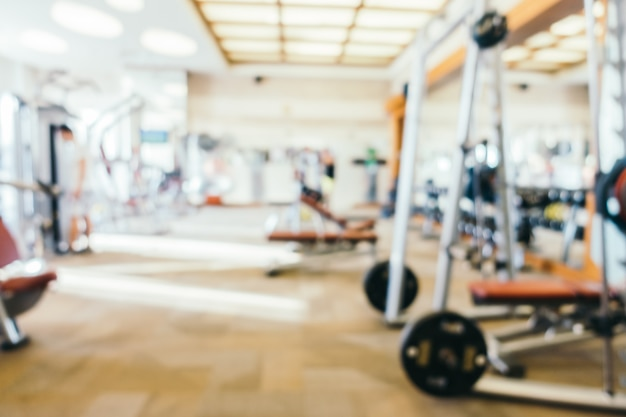 Sala de gimnasio de borroso abstracto