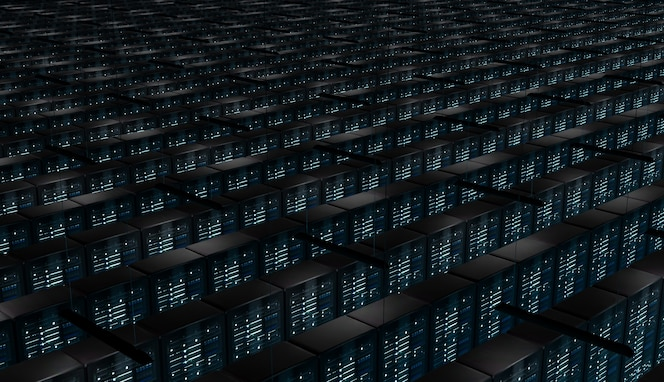 Sala infinita de servidores de red