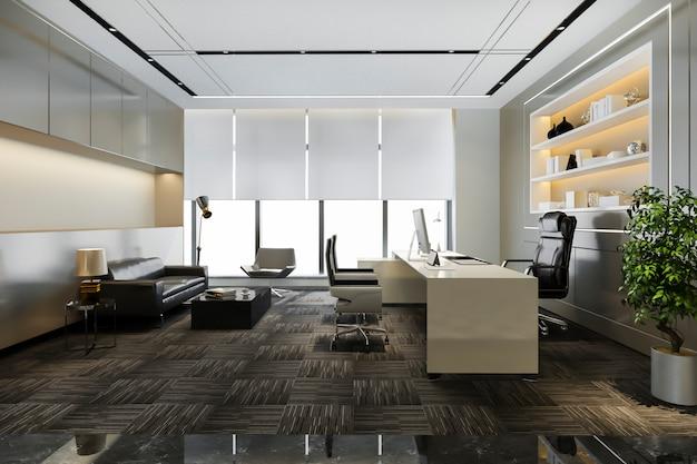 Sala de trabajo de lujo en oficina ejecutiva