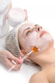 Salón de belleza, mascarilla facial