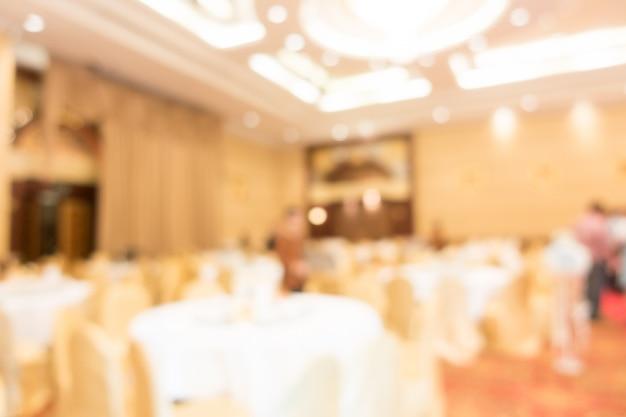 Salón de bodas borroso abstracto
