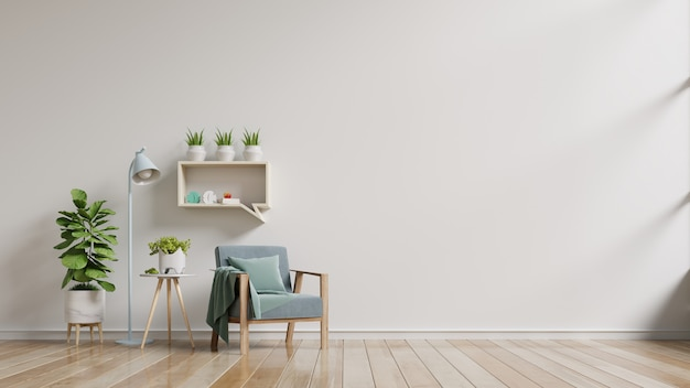 Salón con mesa y sillón de madera.