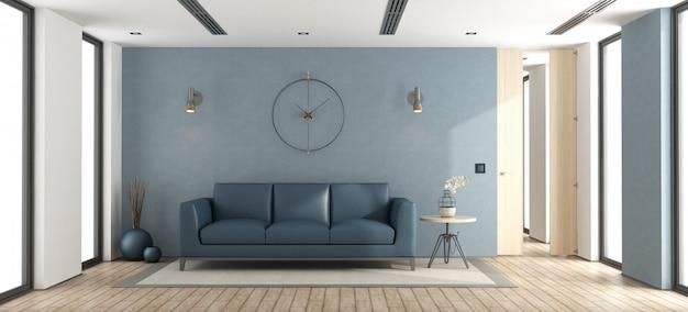 Salón moderno azul