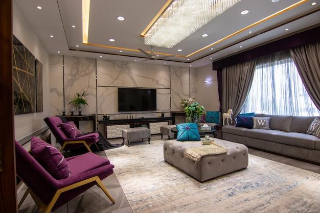 Salón moderno y de lujo.