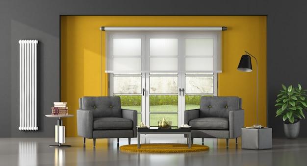 Salón moderno y luminoso