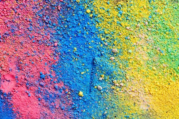 Una salpicadura de polvo de pigmento de color natural pastel.