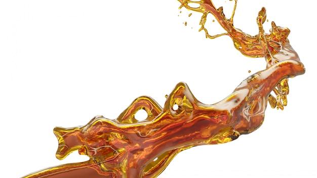 Salpicaduras de aceite en bakckground blanco