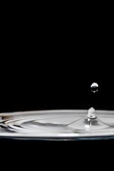 Salpicaduras de agua y burbujas elegantes en blanco y negro