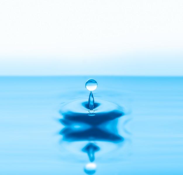 Salpicaduras de gotas de agua