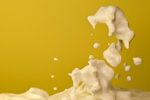 Salpicaduras de leche día mundial de la leche