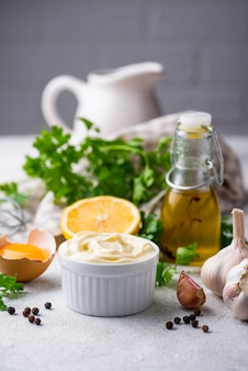 Salsa de mayonesa casera con ingrediente