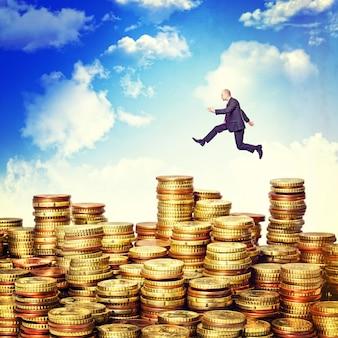 Saltar sobre el dinero