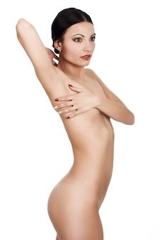Salud sensual desnuda perfecta desnuda