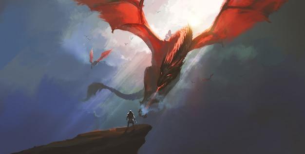 Saluda a la ilustración de la batalla final solo.