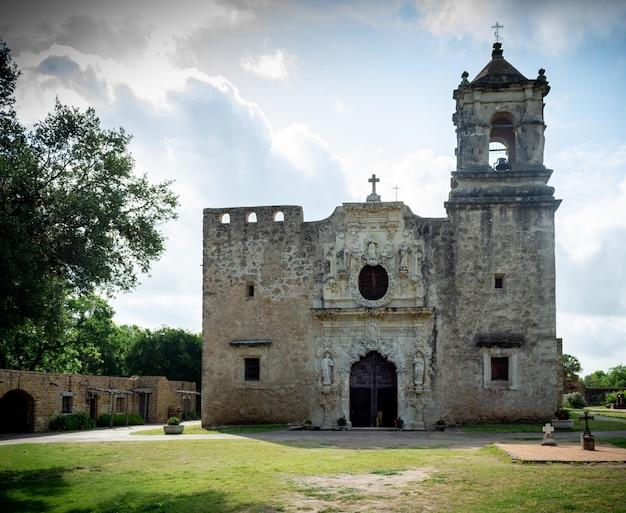 San antonio, texas, ee.uu.misión san josé national park service vista frontal exterior