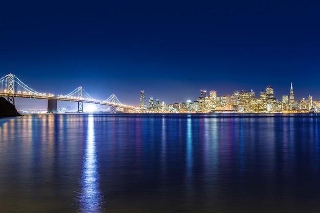 San francisco atardecer horizonte california bahía agua reflejo