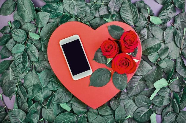 San valentín corazón rojo rosa