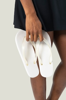 Sandalias de mujer blanco moda veraniega