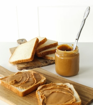 Sandwiches de mantequilla de maní