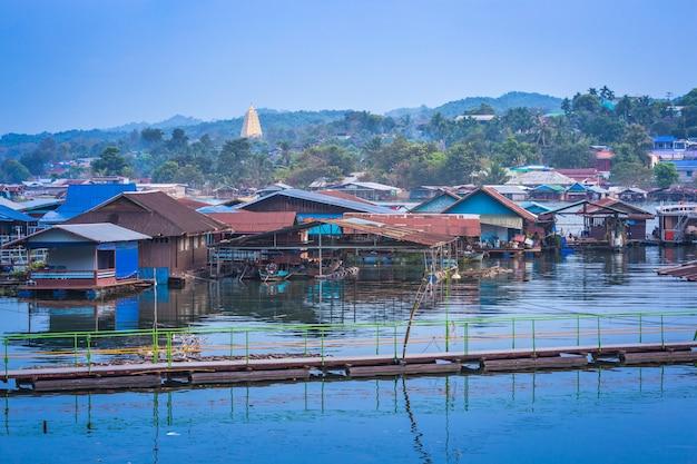 Sangkhla buri, provincia de kanchanaburi, tailandia.