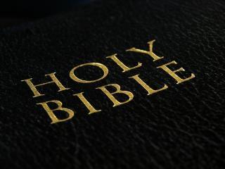 Santa biblia, negro