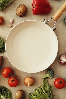 Sartén con verduras