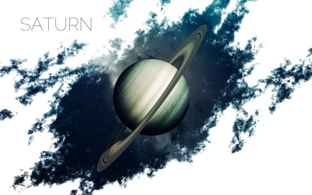 Saturno en el espacio