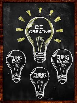 Sea creativo, piense grande y diferente