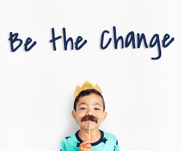 Sea usted mismo positivo optimista valiente viva su vida