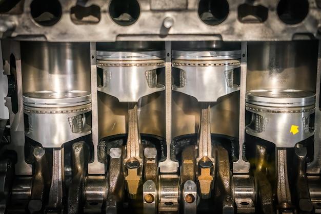 Sección transversal del pistón del motor