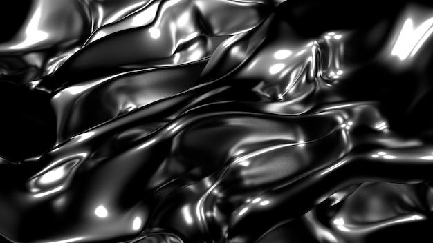 Seda dorada o tela con reflejos metálicos renderizado de ilustración 3d de fondo