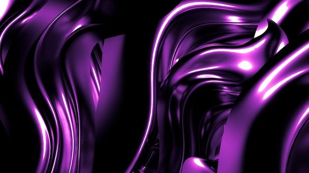 Seda o tela con reflejos metálicos renderizado de ilustración 3d de fondo