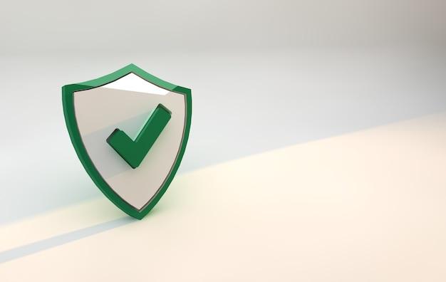 Seguridad del escudo verde. concepto de seguridad de privacidad