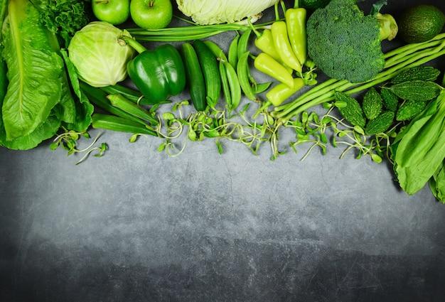 Selección de alimentos saludables alimentación limpia para la vida del corazón colesterol dieta salud