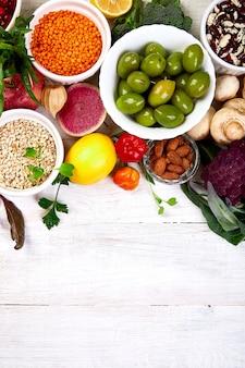 Selección de comida saludable
