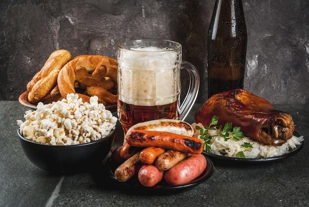 Selección de comida tradicional alemana oktoberfest
