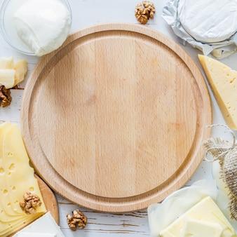 Selección de leche y productos lácteos.