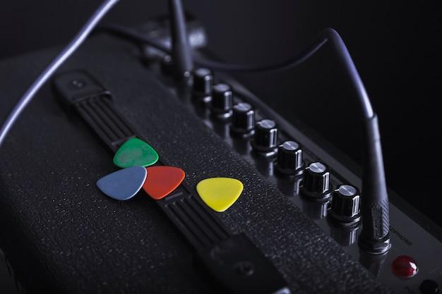 Selecciones coloridas en amplificador