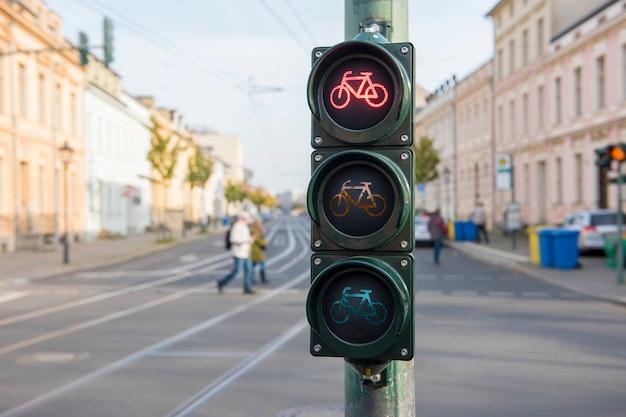 Semáforo para bicicletas.