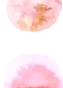 Semicírculos rojos abstractos de la acuarela en el fondo blanco