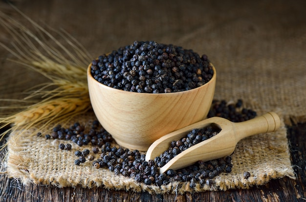 Semillas de pimienta negra