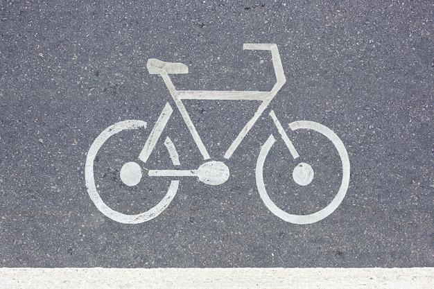 Señal de tráfico de bicicleta