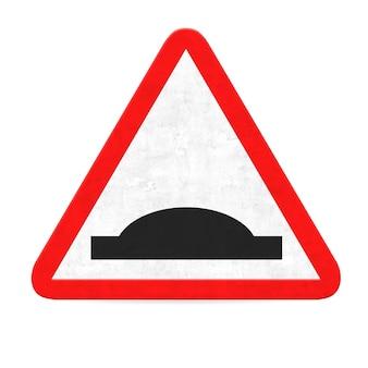 Señal de tráfico peligro protuberancia