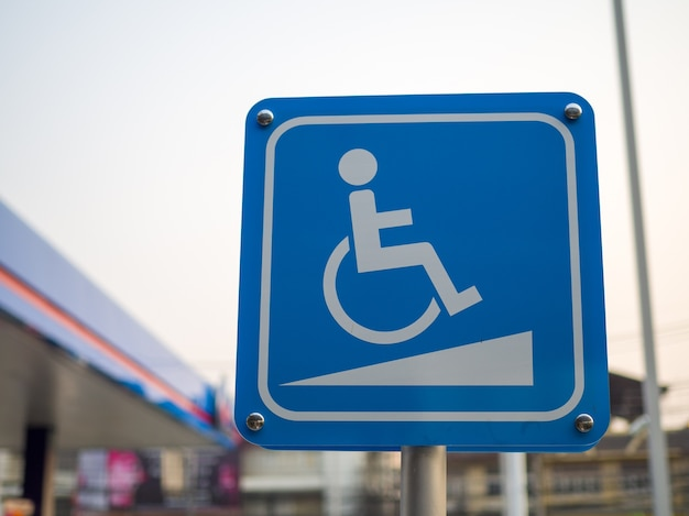 Señales de handicap: señal de acceso a la rampa para discapacitados, rampas para sillas de ruedas