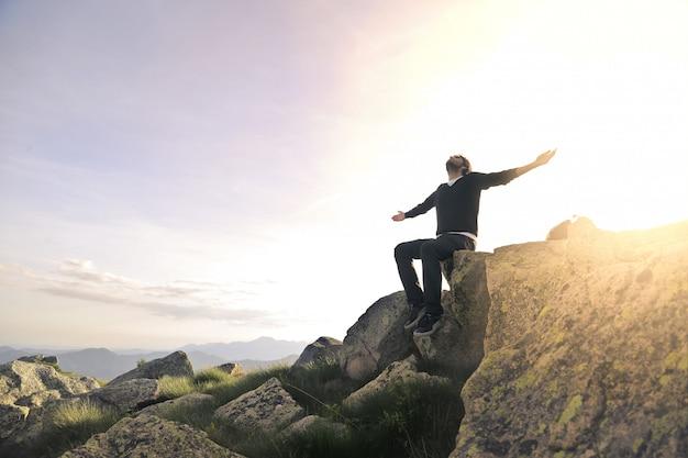 Sentirse libre y feliz