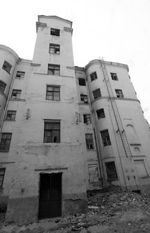 Serie de casas abandonadas
