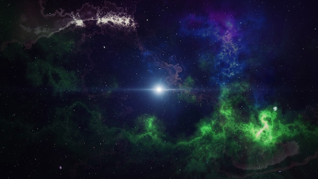 Serie color kingdoms. interacción de pinturas y luces fractales sobre el tema de mundos alienígenas, arte, sueños, fantasía, creatividad e imaginación representación 3d
