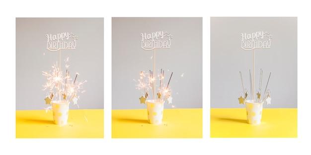 Serie de tarjetas de cumpleaños
