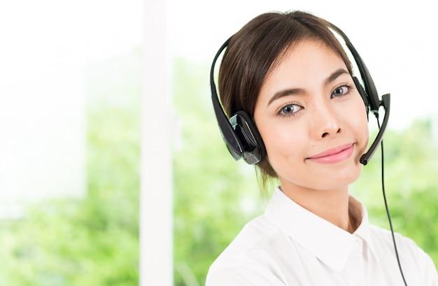 Servicio de atención al cliente de la mujer